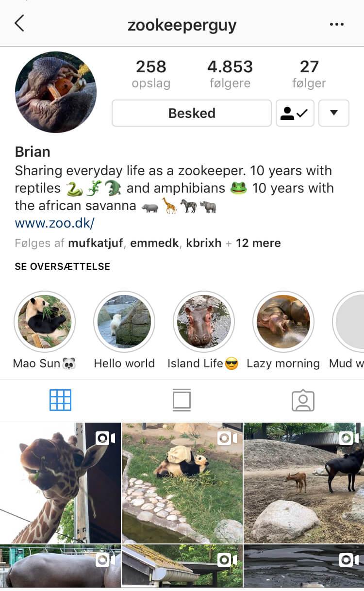 @zookeeperguys Instagram-profil
