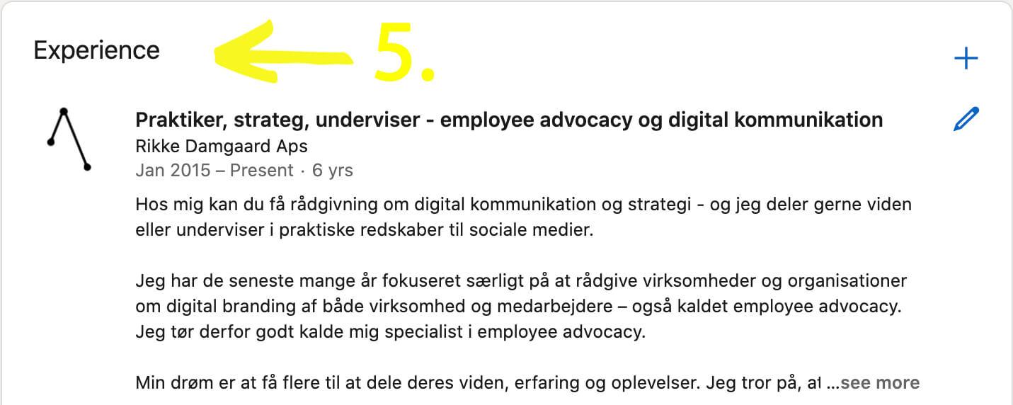 Tip 5 til din LinkedIn-profil